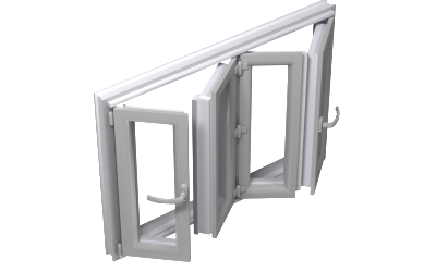 Folding window door