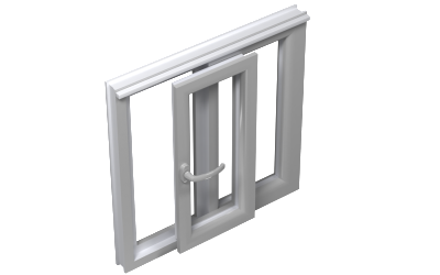 Tilt and slide window door 1