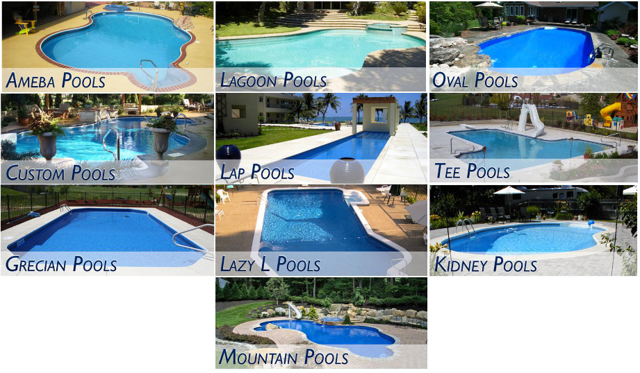 Types of pools different types of inground pools for Types of inground swimming pools